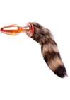 Faux Fox Tail Glass Anal Plug